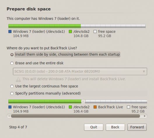 How to dual-boot BackTrack 5 R3 and Windows 7