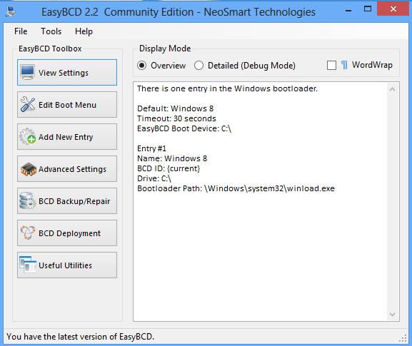 EasyBCD Windows 8