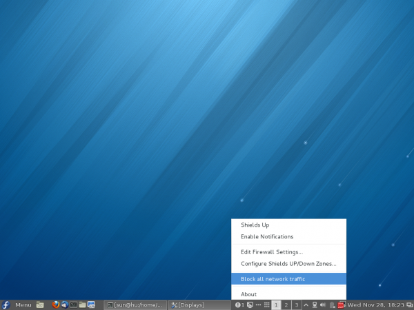 Fedora 18 Cinnamon Firewall