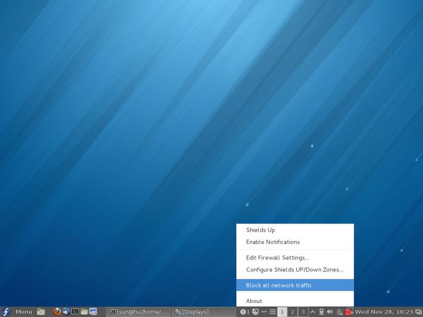 Fedora 18 Cinnamon Firewall