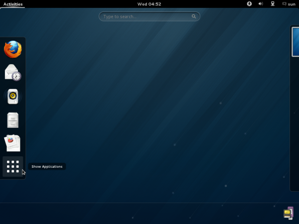 Fedora 18 GNOME Activities