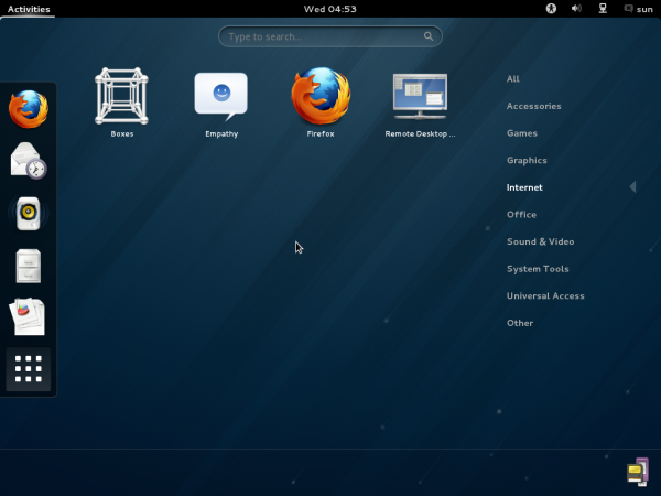 Fedora 18 GNOME Search