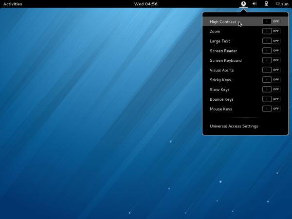 Fedora 18 GNOME Accessibility