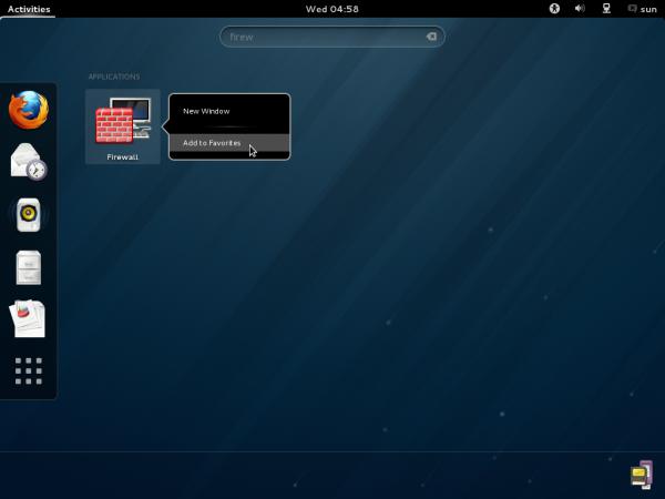 Fedora 18 GNOME Firewall