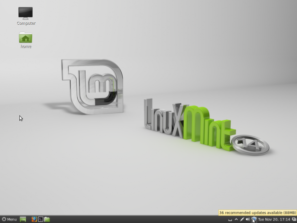Mint 14 Cinnamon Desktop
