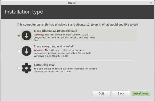 Dual-boot Mint 13 MATE/Cinnamon and Windows 8 on UEFI hardware