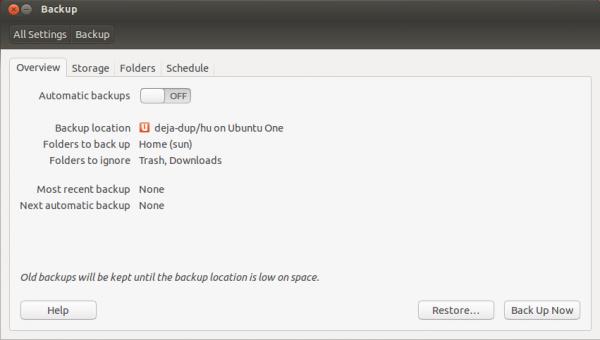 Ubuntu 12.10 Backup