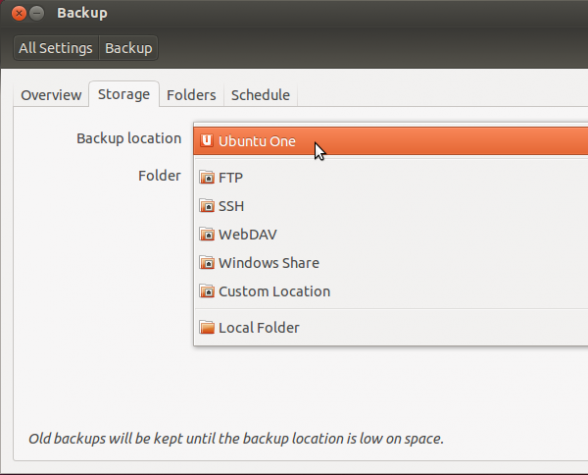Ubuntu 12.10 Backup Locations