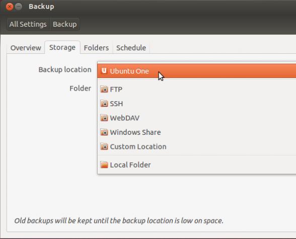 Ubuntu 12.10 Backup Locations