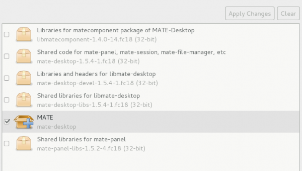 Install MATE on Fedora 18