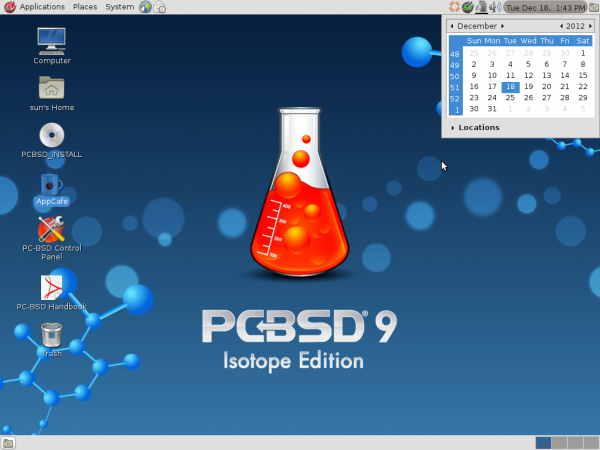 PC-BSD 9.1 GNOME