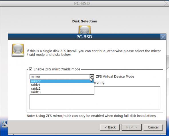 PC-BSD Install