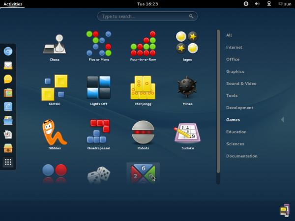 ROSA  Desktop GNOME Games