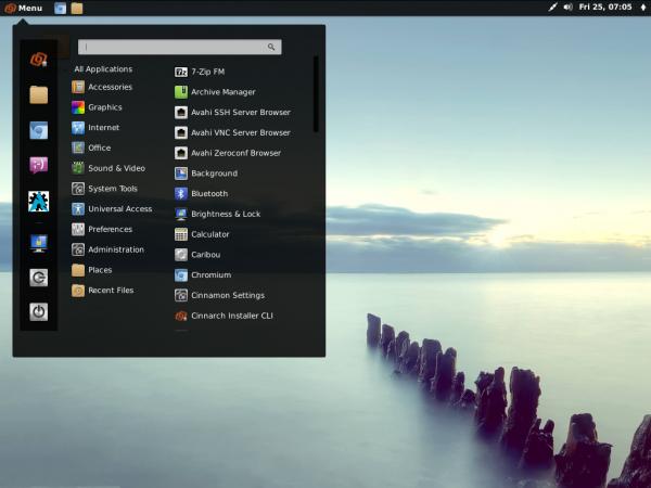 CinnArch Cinnamon Desktop Menu