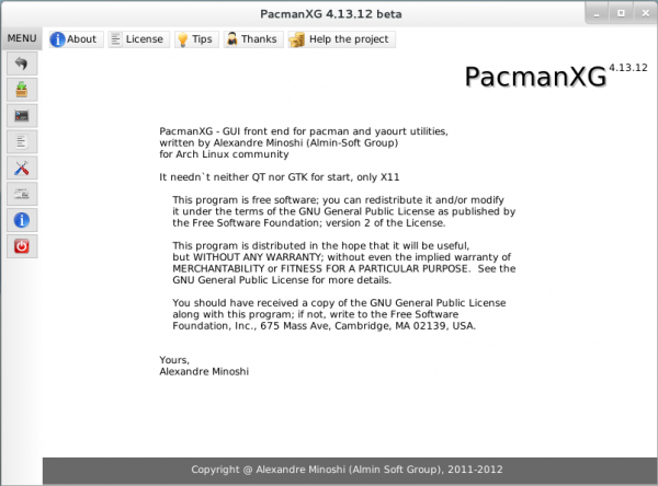 CinnArch PacmanXG Graphical Installer