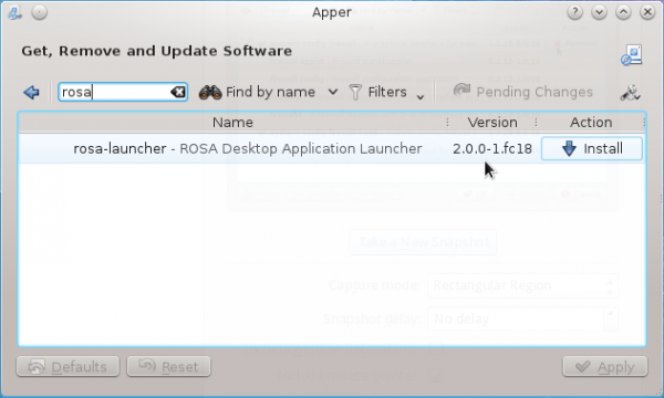 Install ROSA Launcher Fedora 18