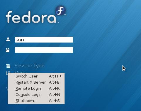 Fedora 18 KDE Login