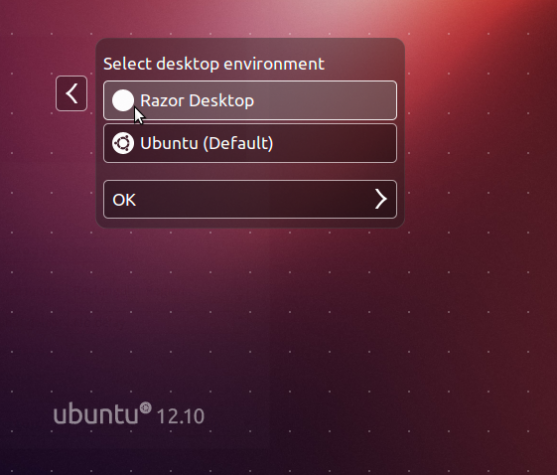 Razor-qt Session Ubuntu 12.10