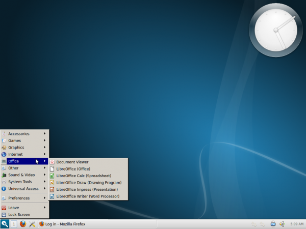 Razor-qt Desktop Menu Ubuntu 12.10