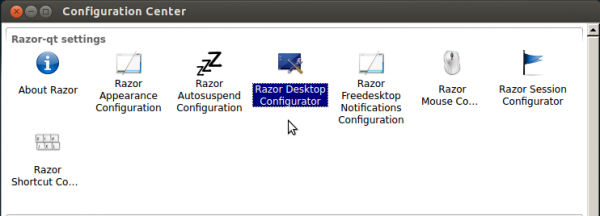 Razor-qt Settings Ubuntu 12.10