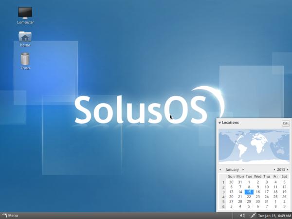 SolusOS Linux Desktop
