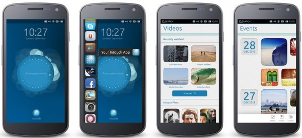 Ubuntu Phone in blue