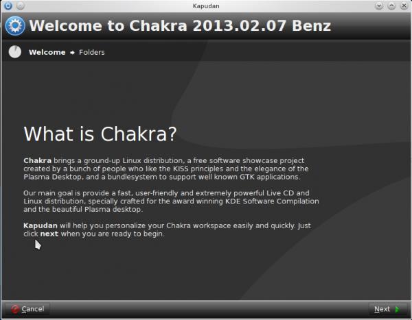 Chakra 2013.02 Benz review