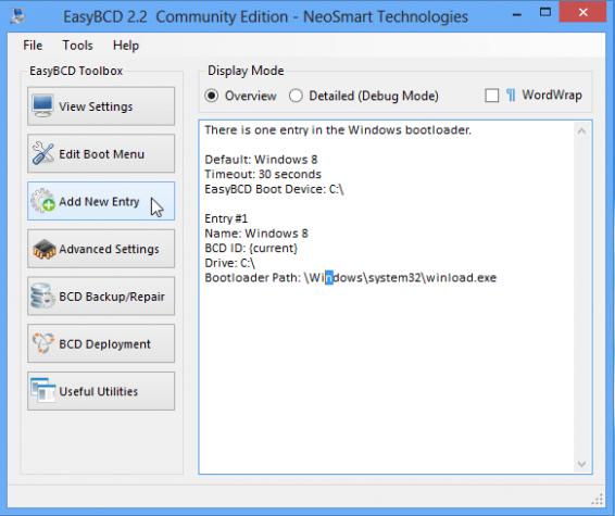Windows 8 Install EasyBCD