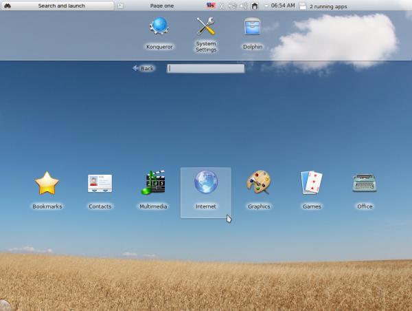 Sabayon 11 KDE Netbook