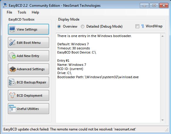 EasyBCD Windows 7