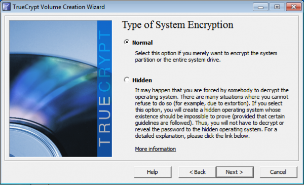 Encrypt Windows 7 with Truecrypt