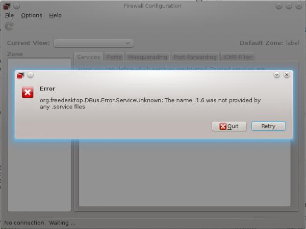 Fedora 18 Firewall-config