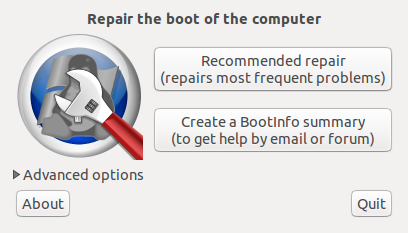 Boot-Repair Ubuntu 12.10 EFI
