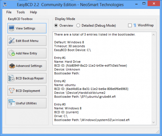 Windows 8 EasyBCD UEFI