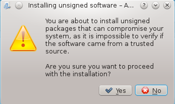 Install untrusted apps Fedora 18 easylife