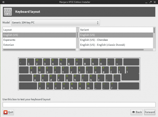 Manjaro Keyboard