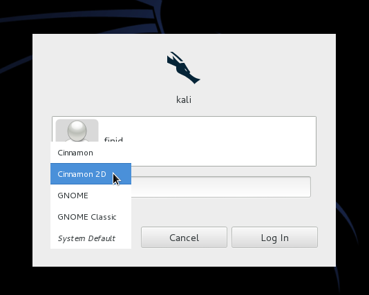Cinnamon 2D on Kali Linux
