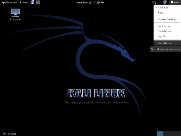 Kali Desktop