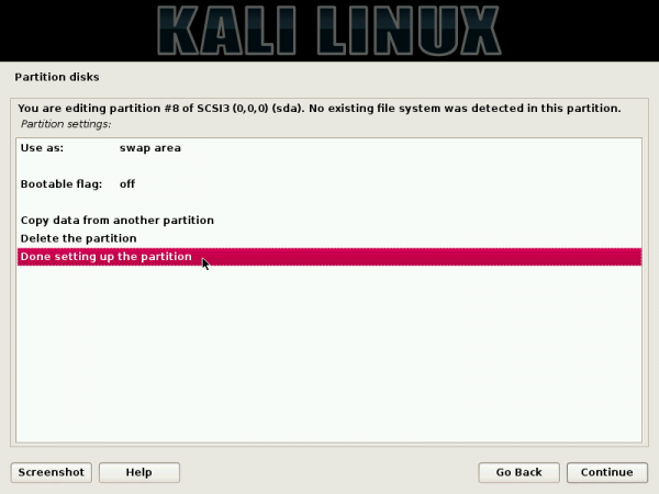 Kali Linux dual-boot Windows 7