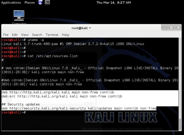 Kali Linux kernel Debian Wheezy