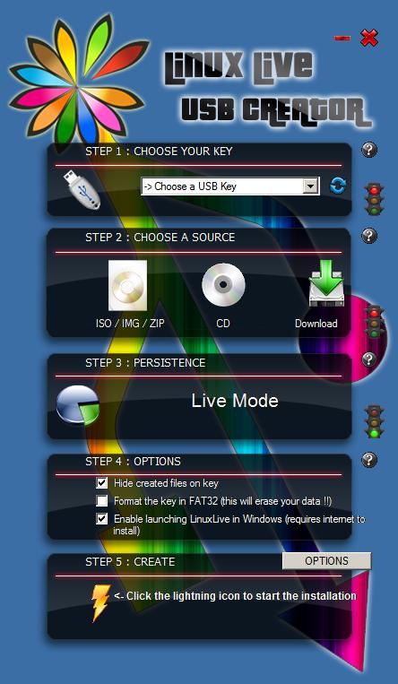 LinuxLive USB Linux USB installer