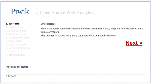 Piwik Web analytics