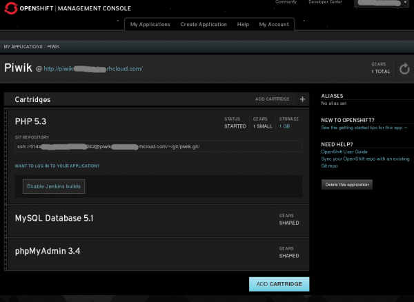 OpenShift Online Web Console