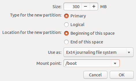 Ubuntu 12.10 Add GPT boot Partition