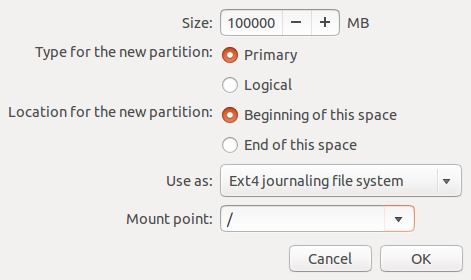 Ubuntu 12.10 Add GPT root Partition