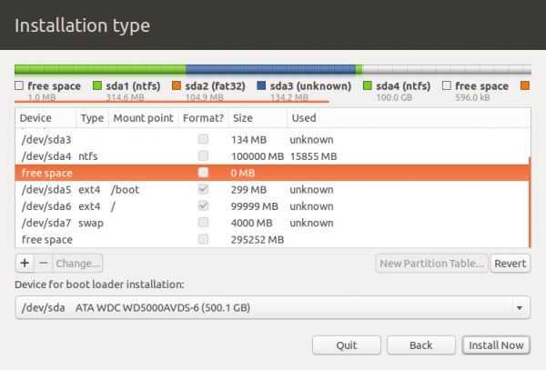 Ubuntu 12.10 GPT Partition
