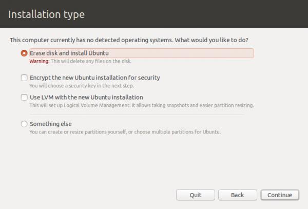 Ubuntu 12.10 installation