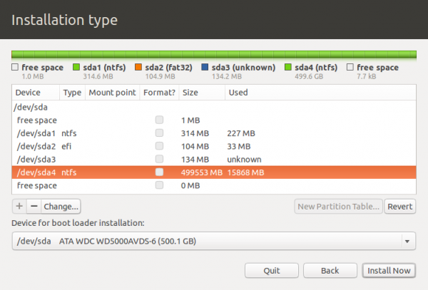 Ubuntu 12.10 Add GPT Partition