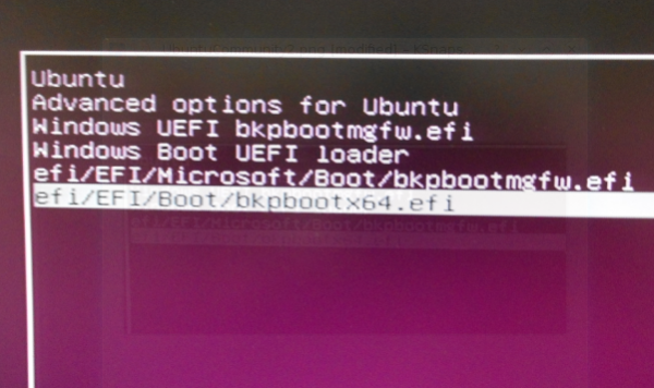 Ubuntu GRUB 2 Boot Menu UEFI