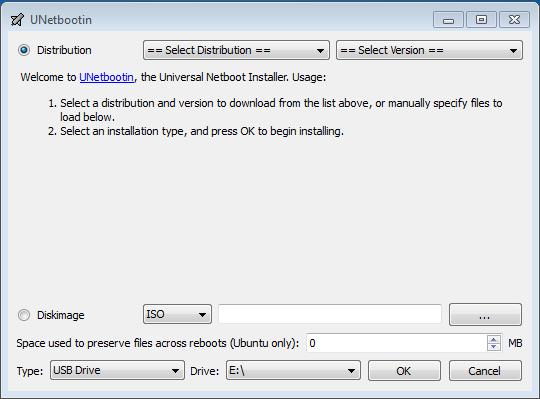 Unetbootin Linux USB Installer